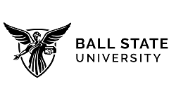 Ball State University logo, BSU, ISCN Member, International Sustainable Campus Network
