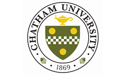 Chatham University logo, ISCN Member, International Sustainable Campus Network