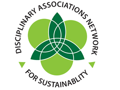 Disciplinary Associations Network for Sustainability logo, ISCN Member, International Sustainable Campus Network