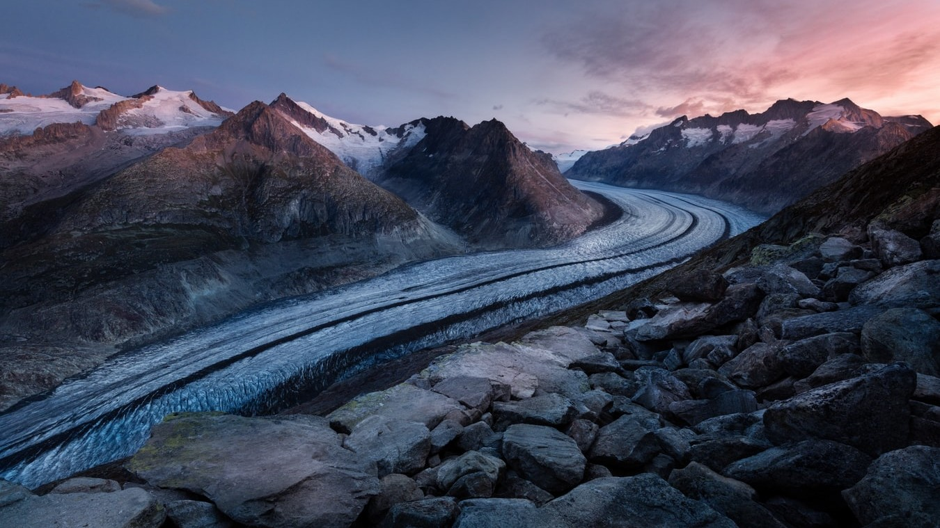 Climate change image, Road in the mountains, ISCN, International Sustainable Campus Network