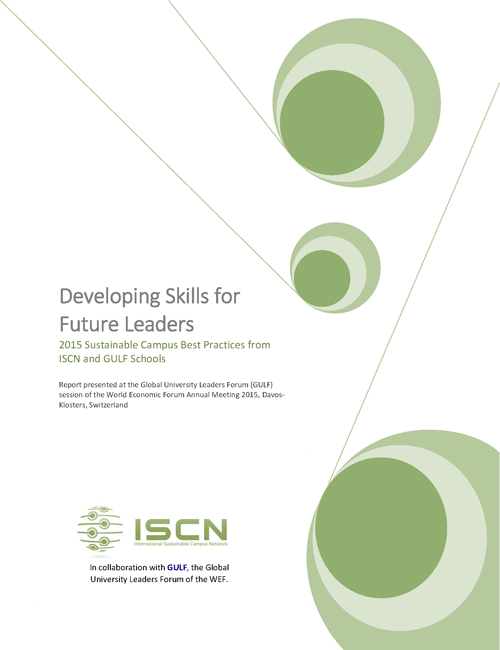 ISCN Sustainable Campus Best Practices 2015 charter, International Sustainable Campus Network