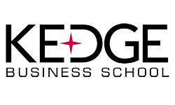 KEDGE Business School logo, ISCN Member, International Sustainable Campus Network