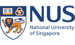 NUS logo, ISCN Member, International Sustainable Campus Network
