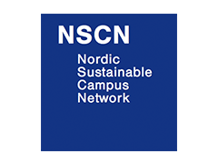 Nordic Sustainable Campus Network logo, ISCN Member, International Sustainable Campus Network