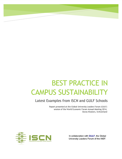ISCN Best practice in Sustainability document, International Sustainable Campus Network