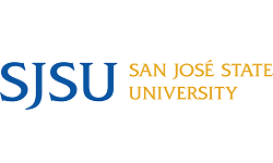 ISCN Member, SJSU logo, International Sustainable Campus Network